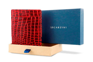 Cavare Magic Coin Wallet Card Sleeve Croco - Croco Burgundy - 7