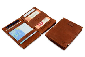 Cavare Magic Coin Wallet Card Sleeve Vintage - Java Brown - 4