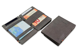 Cavare Magic Coin Wallet Card Sleeve Vintage - Metal Grey - 4