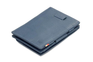 Cavare Magic Coin Wallet Card Sleeve Nappa - Navy Blue - 1