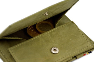 Cavare Magic Coin Wallet Card Sleeve Vintage - Olive Green - 5