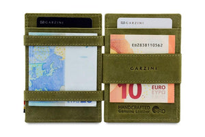 Cavare Magic Coin Wallet Card Sleeve Vintage - Olive Green - 6