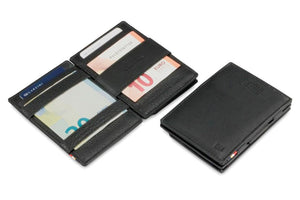 Cavare Magic Coin Wallet Card Sleeve Nappa - Raven Black - 4