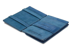 Cavare Magic Coin Wallet Card Sleeve Vintage - Sapphire Blue - 3