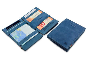 Cavare Magic Coin Wallet Card Sleeve Vintage - Sapphire Blue - 4