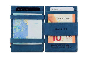 Cavare Magic Coin Wallet Card Sleeve Vintage - Sapphire Blue - 6
