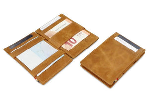 Essenziale Magic Wallet Brushed - Brushed Cognac - 5