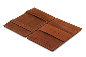 Magic Wallet Garzini Essenziale - Java Brown - 3