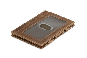 Essenziale Magic Wallet ID Window Brushed - Brushed Brown - 1