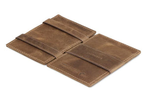 Essenziale Magic Wallet ID Window Brushed - Brushed Brown - 3