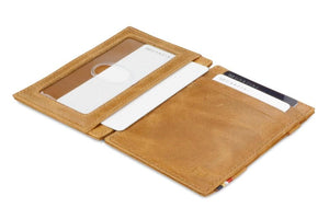 Essenziale Magic Wallet ID Window Brushed - Brushed Cognac - 4