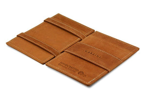 Magic Wallet Garzini Essenziale ID Window - Camel Brown - 3