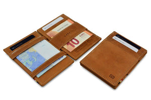 Magic Wallet Garzini Essenziale ID Window - Camel Brown - 5