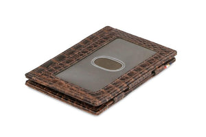 Essenziale Magic Wallet ID Window Croco - Croco Brown - 1