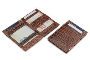 Essenziale Magic Wallet ID Window Croco - Croco Brown - 5