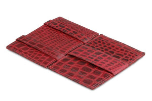 Essenziale Magic Wallet ID Window Croco - Croco Burgundy - 3