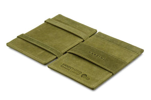 Magic Wallet Garzini Essenziale ID Window - Olive Green - 3