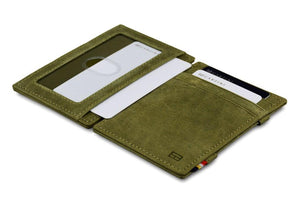 Magic Wallet Garzini Essenziale ID Window - Olive Green - 4