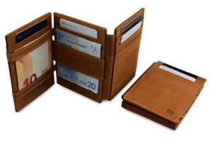 Magic Wallet Garzini Magistrale - Camel Brown - 5