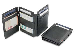 Magistrale Magic Wallet Nappa - Raven Black - 5