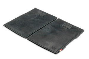 Cavare Magic Wallet Card Sleeves Brushed - Brushed Black - 4