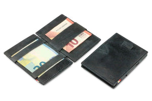 Cavare Magic Wallet Card Sleeves Brushed - Brushed Black - 5