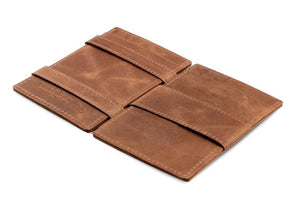 Cavare Magic Wallet Card Sleeves Brushed - Brushed Brown - 3