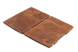 Cavare Magic Wallet Card Sleeves Brushed - Brushed Brown - 4