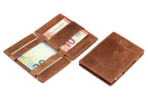 Cavare Magic Wallet Card Sleeves Brushed - Brushed Brown - 5