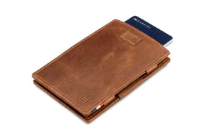 Cavare Magic Wallet Card Sleeves Brushed - Brushed Brown - 7