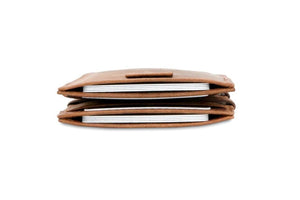 Cavare Magic Wallet Card Sleeves Brushed - Brushed Brown - 8