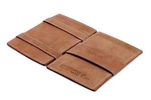 Cavare Magic Wallet Card Sleeves Vintage - Camel Brown - 3