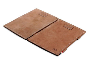 Cavare Magic Wallet Card Sleeves Vintage - Camel Brown - 4