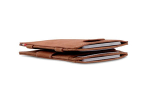Cavare Magic Wallet Card Sleeves Vintage - Camel Brown - 6