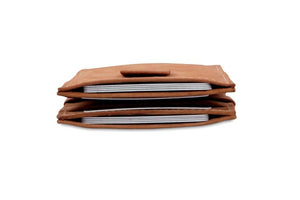 Cavare Magic Wallet Card Sleeves Vintage - Camel Brown - 8