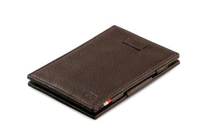 Cavare Magic Wallet Card Sleeves Nappa - Chocolate Brown - 1