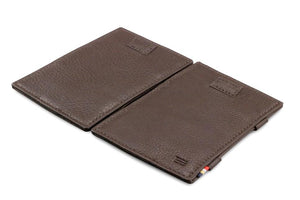 Cavare Magic Wallet Card Sleeves Nappa - Chocolate Brown - 4