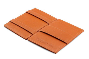 Cavare Magic Wallet Card Sleeves Nappa - Cognac Brown - 3