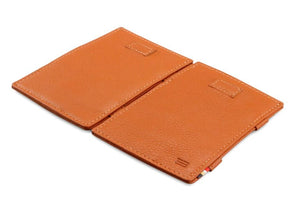 Cavare Magic Wallet Card Sleeves Nappa - Cognac Brown - 4