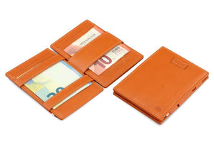 Cavare Magic Wallet Card Sleeves Nappa - Cognac Brown - 5