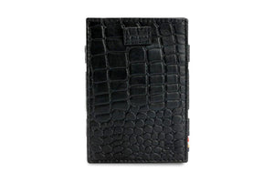 Cavare Magic Wallet Card Sleeves Croco - Croco Black - 2