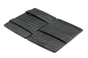 Cavare Magic Wallet Card Sleeves Croco - Croco Black - 3