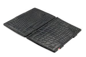 Cavare Magic Wallet Card Sleeves Croco - Croco Black - 4
