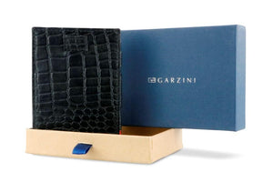 Cavare Magic Wallet Card Sleeves Croco - Croco Black - 9