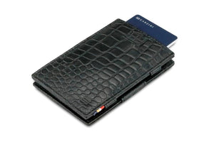 Cavare Magic Wallet Card Sleeves Croco - Croco Black - 7