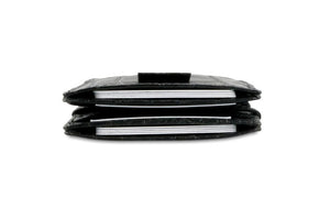 Cavare Magic Wallet Card Sleeves Croco - Croco Black - 8