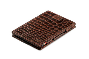 Cavare Magic Wallet Card Sleeves Croco - Croco Brown - 1