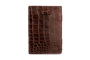 Cavare Magic Wallet Card Sleeves Croco - Croco Brown - 2