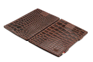 Cavare Magic Wallet Card Sleeves Croco - Croco Brown - 4