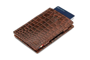 Cavare Magic Wallet Card Sleeves Croco - Croco Brown - 7